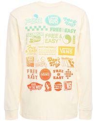 "Vans Langarm-t-shirt "" X Free & Easy"" - Weiß"