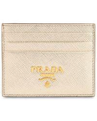 Prada - Saffiano Leather Card Holder - Lyst