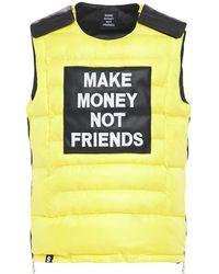 MAKE MONEY NOT FRIENDS ロゴパッチ ブレットプルーフジャケットベスト - イエロー