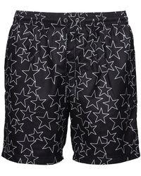 Dolce & Gabbana Badeshorts Mit Logosterndruck - Schwarz