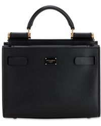 Dolce & Gabbana Sicily 62 Mini Leather Top Handle Bag - Black