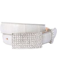 Alessandra Rich - Anguilla Leather Belt W/ Crystals - Lyst