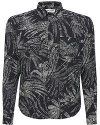 Saint Laurent - Вискозная Рубашка С Принтом - Lyst