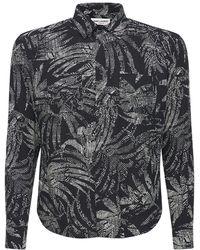 Saint Laurent Palms ビスコースシャツ - ブラック