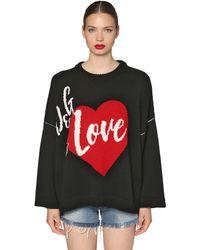 Dolce & Gabbana オーバーサイズ カシミア混セーター - ブラック