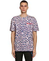 CALVIN KLEIN 205W39NYC T-shirt leopardata - Bianco