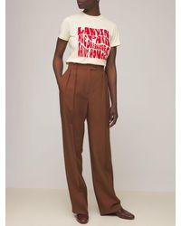 Lanvin T-shirt In Jersey Di Cotone - Rosso
