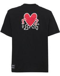 "Axel Arigato Camiseta ""keith Haring"" Estampada - Negro"