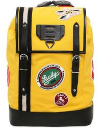 Bally - Canvas Backpack W/ Patches - Lyst