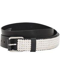 DIESEL 35mm Studded Leather Belt - Black