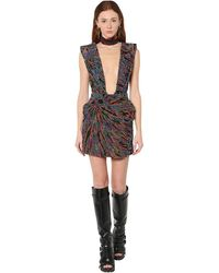 DSquared² Bead Embellished Mini Dress - Multicolor