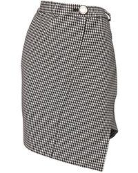Balenciaga ウールブレンドアシンメトリースカート - ブラック