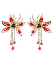 Shourouk - Flower Amelia Earrings - Lyst