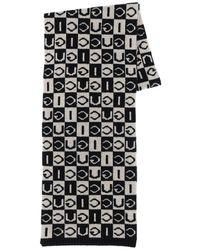 Gucci Logo Wool Knit Scarf - Black