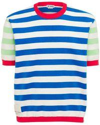 Sunnei コットンニットtシャツ - ブルー