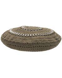 Ganni - コットンニットベレー帽 - Lyst