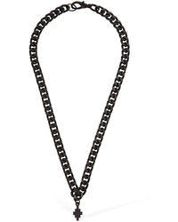 Marcelo Burlon Chain Cross Necklace - Black