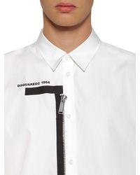 DSquared² Hedm Aus Baumwollpopeline Mit Logo Und Zipper - Weiß