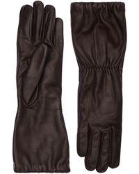 Bottega Veneta Перчатки Из Мягкой Кожи Наппа - Черный