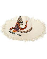 Etro - Maasai Fringed Floppy Hat - Lyst