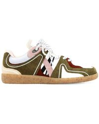 Ganni 10mm Mesh & Suede Trainers - Multicolour