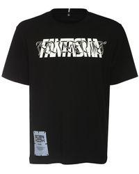 """McQ Bedrucktes T-shirt Aus Baumwolle """"fantasma"""" - Schwarz"""