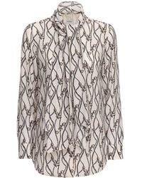 Ferragamo Рубашка Из Шёлкового Крепдешина С Принтом - Многоцветный
