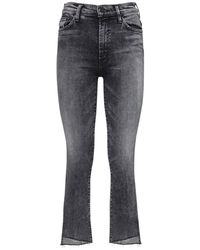 """Mother - Jeans """" The Insider Crop Step Fray"""" - Lyst"""
