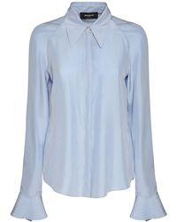 Rochas Habutai シルクシャツ - ブルー