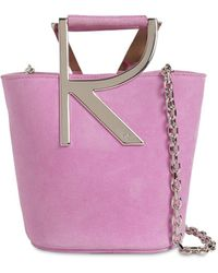 Roger Vivier Rv Suede Bucket Bag - Pink