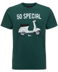 Mc2 Saint Barth Vespa コットンジャージーtシャツ - グリーン