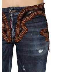 "DSquared² Jeans Aus Denim Und Leder ""cool Girl"" - Blau"