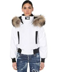 DSquared² Short Nylon Down Jacket - White