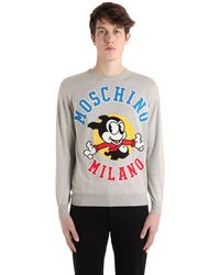 Moschino Bimbo ウールニットジャカードセーター - マルチカラー
