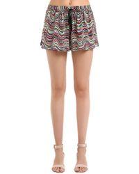 Missoni - Shorts De Punto De Lurex - Lyst