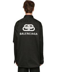Balenciaga - オーバーサイズコットンツイルシャツ - Lyst