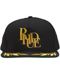 Rhude Podium Cotton Hat - Black