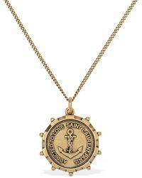 "Saint Laurent Collana ""Anchor Medallion"" - Metallizzato"