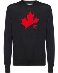 DSquared² Maple Leaf ジャカードウールセーター - マルチカラー