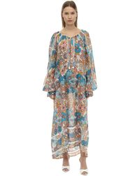 Dodo Bar Or Toto Printed Cotton Midi Dress - Blau