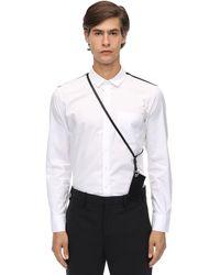 Neil Barrett Hemd Aus Baumwollpopeline Mit Pouch - Weiß
