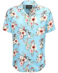 Criminal Damage Camisa De Viscosa Estampada - Azul