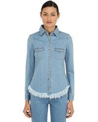 Marques'Almeida Fitted Cowboy Cotton Denim Shirt - Blue