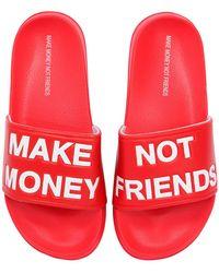 MAKE MONEY NOT FRIENDS - ロゴ スライドサンダル - Lyst
