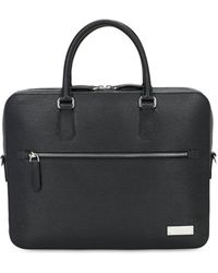 Bally Pebbled Leather Briefcase - Black
