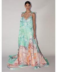 Off-White c/o Virgil Abloh Lvr Exclusive Printed Cotton Blend Dress - Multicolour