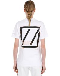 Still Good Movement Cotton Jersey T-shirt - White