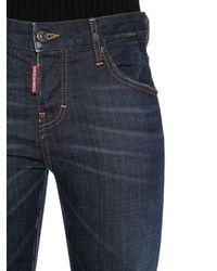 "DSquared² Kürzere Jeans Aus Baumwolldenim ""cool Girl"" - Blau"