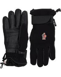 3 MONCLER GRENOBLE Twill Bi-stretch Technique Gloves - Black