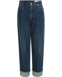 Alexander McQueen Cotton Denim Jeans - Blue